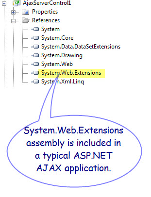Figure 4. System.Web.Extensions assembly as a reference