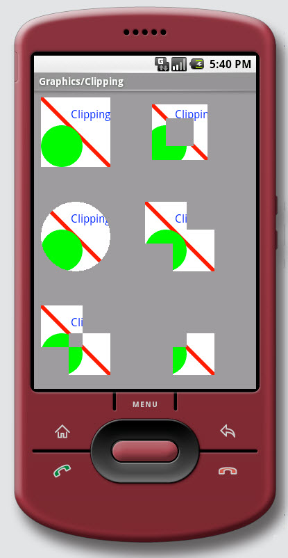 Figure 9. Graphics / Clipping on Android