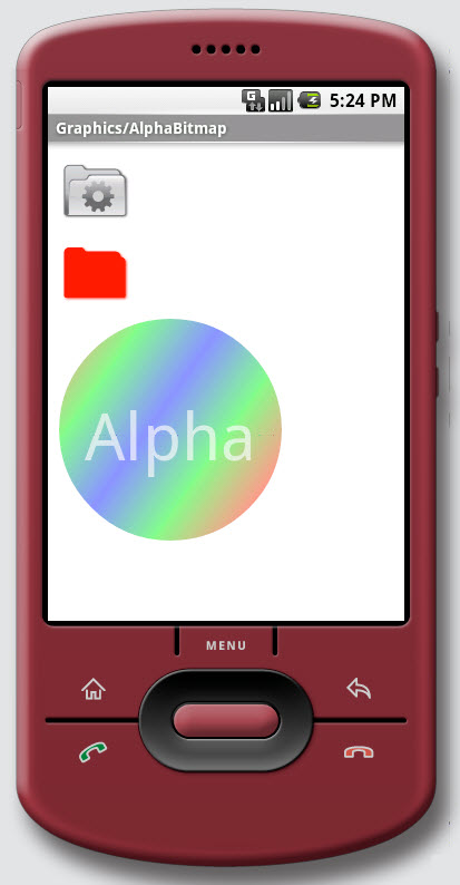 Figure 7. The Graphics / AlphaBitmap on Android