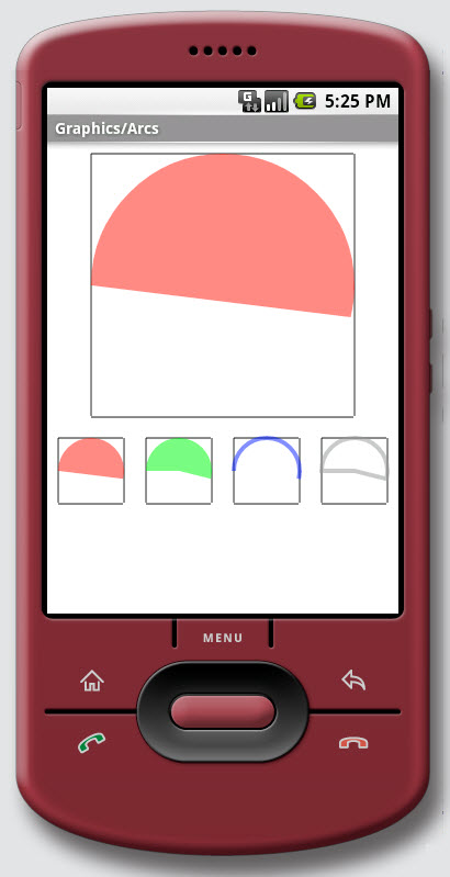 Figure 8. The Graphics / Arcs on Android