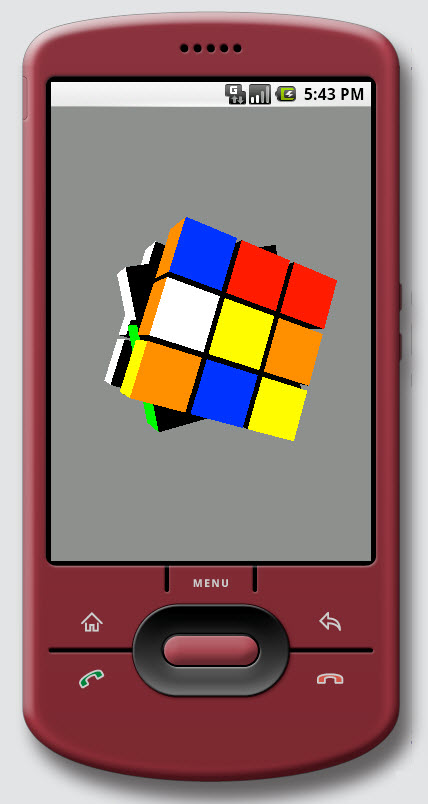 Figure 12. Graphics / Kube (from OpenGL ES) on Android