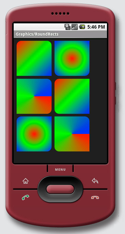 Figure 14. Graphics / Round Rectangles on Android
