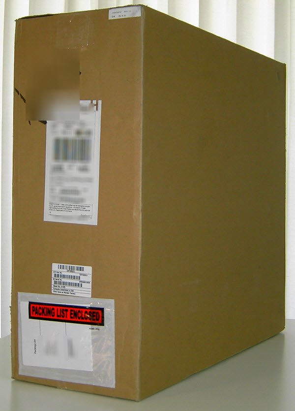 Figure 1. The big brown shipping box with a 24-inch iMac in it