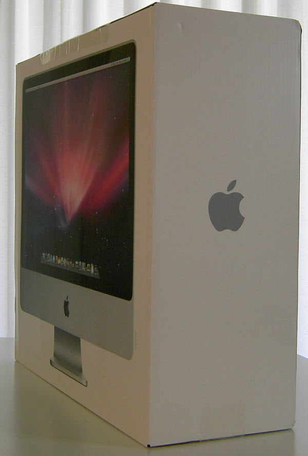 Figure 8. The Apple iMac in its white box