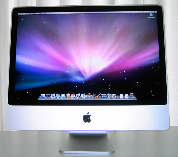 Figure 6. Apple iMac 24-inch monitor with the standard Mac OS X wallpaper