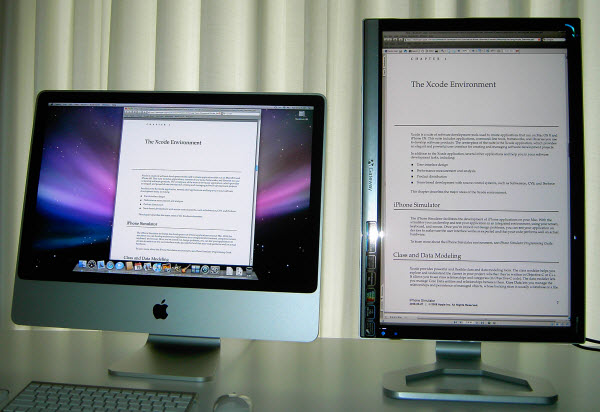 Figure 15. Viewing PDF on two different monitors
