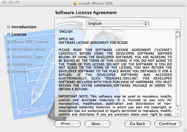 Figure 3. The Software License Agreement
