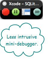Figure 6. The Mini Debugger when disengaged from the application