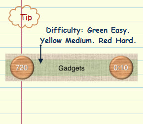 Figure 8. Difficulty. Green Easy. Yellow Medium. Red Hard.