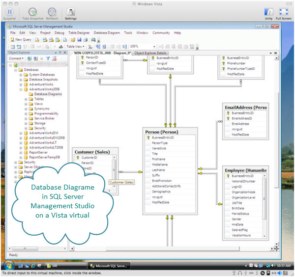 Infinitezest using sql server on a mac with fusion database diagram for the person table in the sql server management studio on a vista virtual machine ccuart