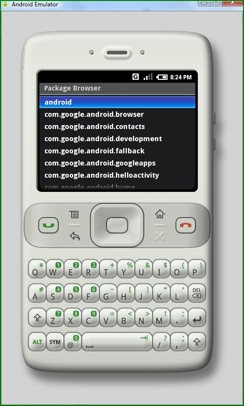 Package Browser in Android