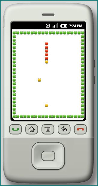 Figure 8. The Android Snake at QVGA-P