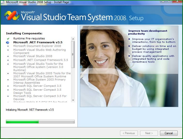 Visual Studio 2008 Installing