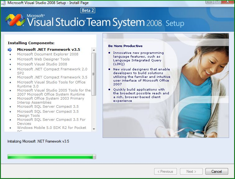 Figure 6: Beginning to install Visual Studio Team System 2008